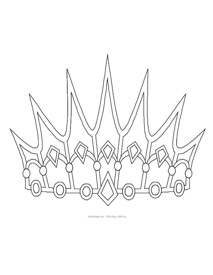 The 25 Best Crown Pattern Ideas On Pinterest Shape Coloring Disney Princess Crown Coloring Pages