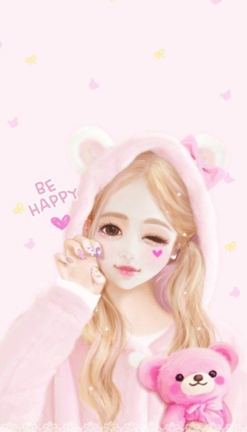50 best korean cute cartoon images on pinterest korean - Girly girl anime ...