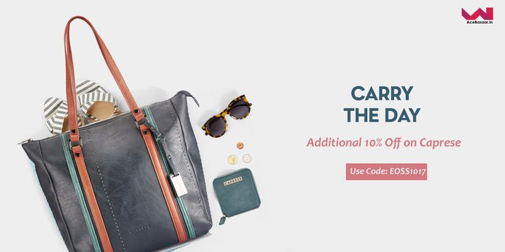 Upto 50% off on Caprese Handbags & Wallets.  Plus additional discount by using coupon code.  Use Code: EOSS1017  #shopnow #caprese #handbags #acebazaarin