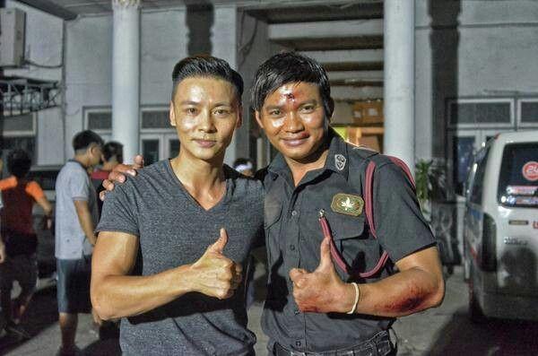 Tony Jaa And Max Zhang On Set Kill Zone 2 Max Zhang Tony Jaa Martial Arts Film