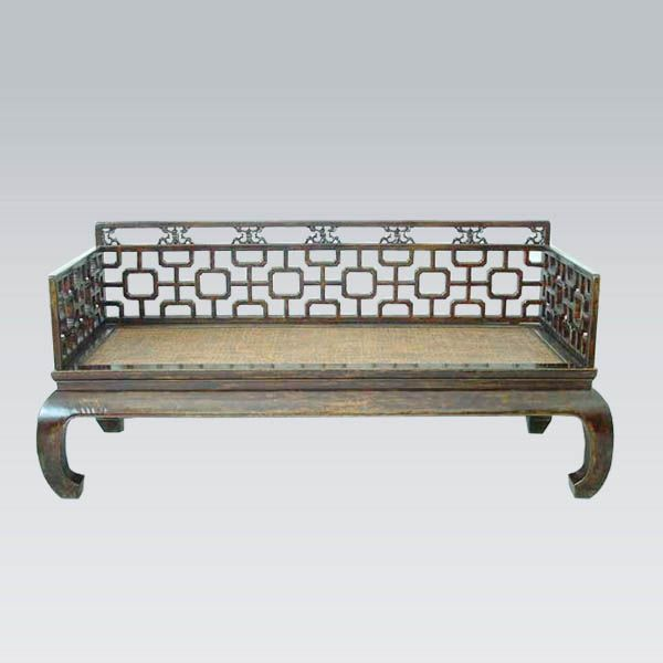 Chinese Day Bed High Railing