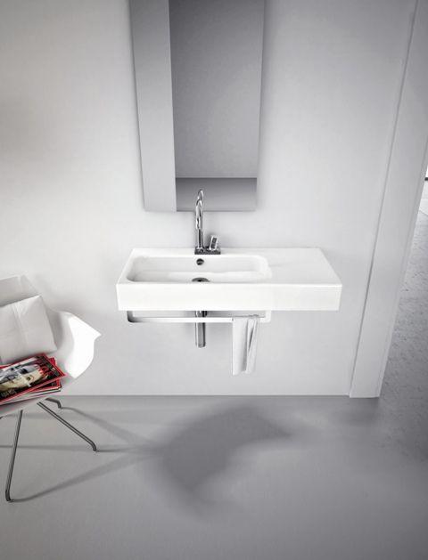 Block, design Meneghello Paolelli Associati. #lavabo #washbasin #design #bathroom #ArtCeram