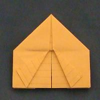 Origami Tent for Story of Abraham -- biblecraftsandactivities.com