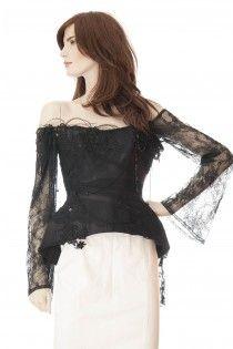 MAX CHAOUL exkluzivní korzet s aplikací 40 / MAX CHAOUL lace corset