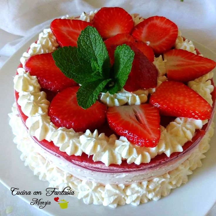 Cheesecake semplice alle fragole