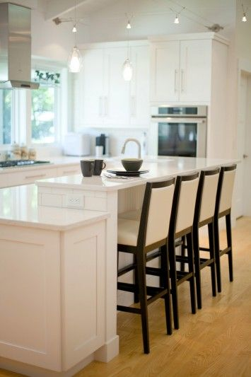 17 best images about kitchen island seating on pinterest for Two level kitchen island