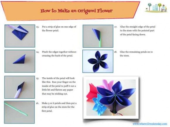54 best origami images on pinterest paper flowers origami flowers how to make a special origami flower mightylinksfo Gallery