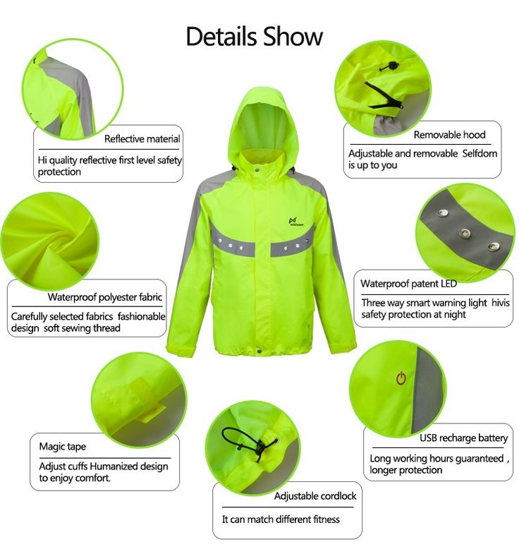 Very smart design. What they did with the grommets over LED lights, nice. New hoodie cycling jersey hiking sports apparel skiing jacket