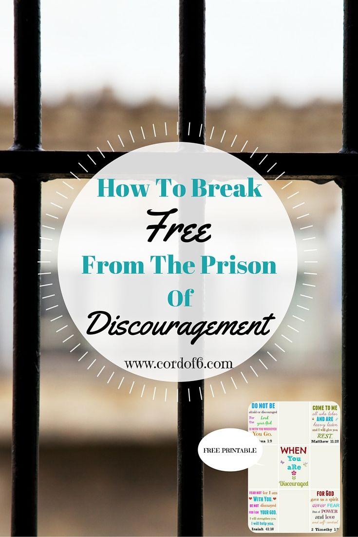 Discouragement will creep its way into your life and try to trap you in its prison. When these feelings come, what should you do to free yourself?