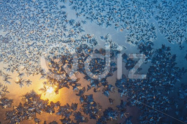 Qdiz Stock Photos | Frost and snowflakes on frozen window,  #abstract #backdrop #background #beautiful #beauty #bright #Christmas #closeup #cold #cool #crystal #decoration #effect #fantastic #fantasy #flake #freeze #frost #frozen #glass #glitter #glowing #hoar #ice #magic #natural #new #ornament #ornate #pattern #scene #season #shiny #snow #snowflake #Sun #sundown #sunrise #Sunset #texture #tracery #weather #window #winter #xmas #year