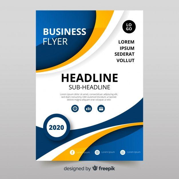 8f564c0e8c531 Plantilla moderna de folleto de negocios con diseño abstracto vector  gratuito