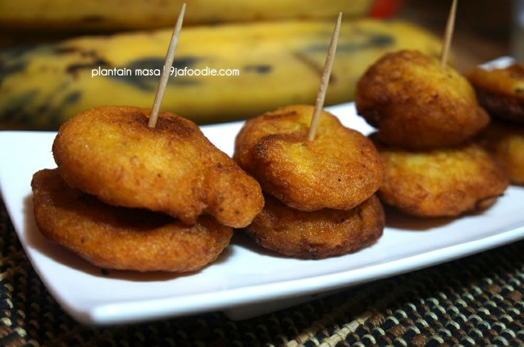 Nigerian Plantain Masa and Ghanian Tatale recipe. West African food