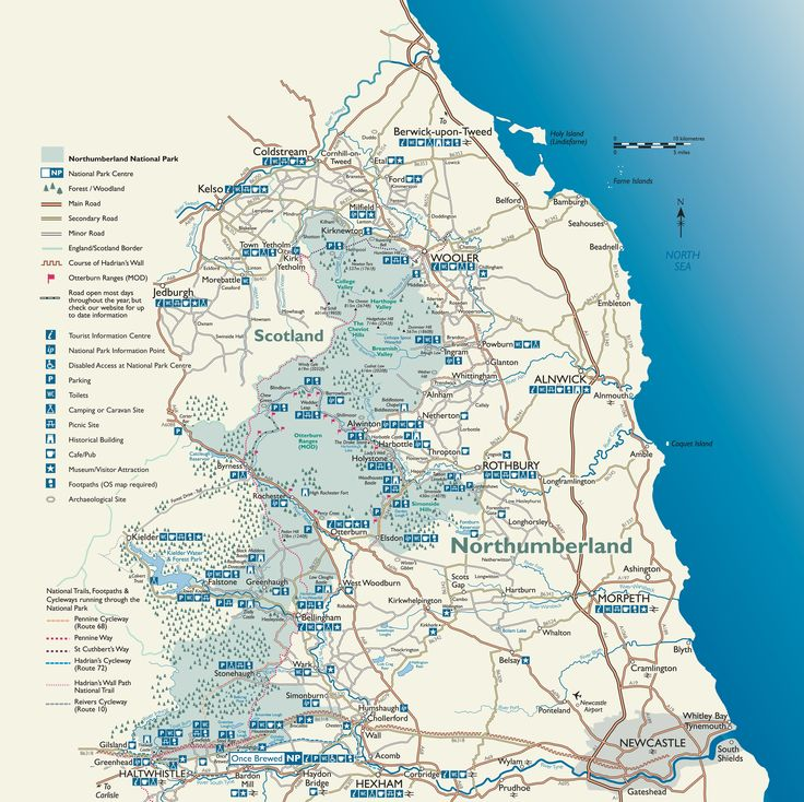 Map of Northumberland National Park...so much to explore!