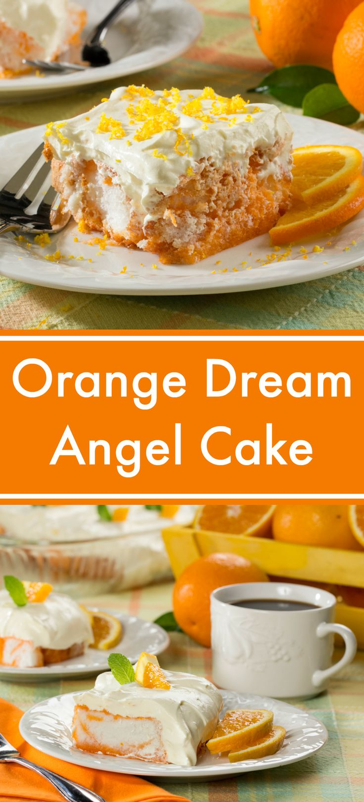Orange Dream Angel Cake tastes just like those orange and cream pops we dream about in the summertime!