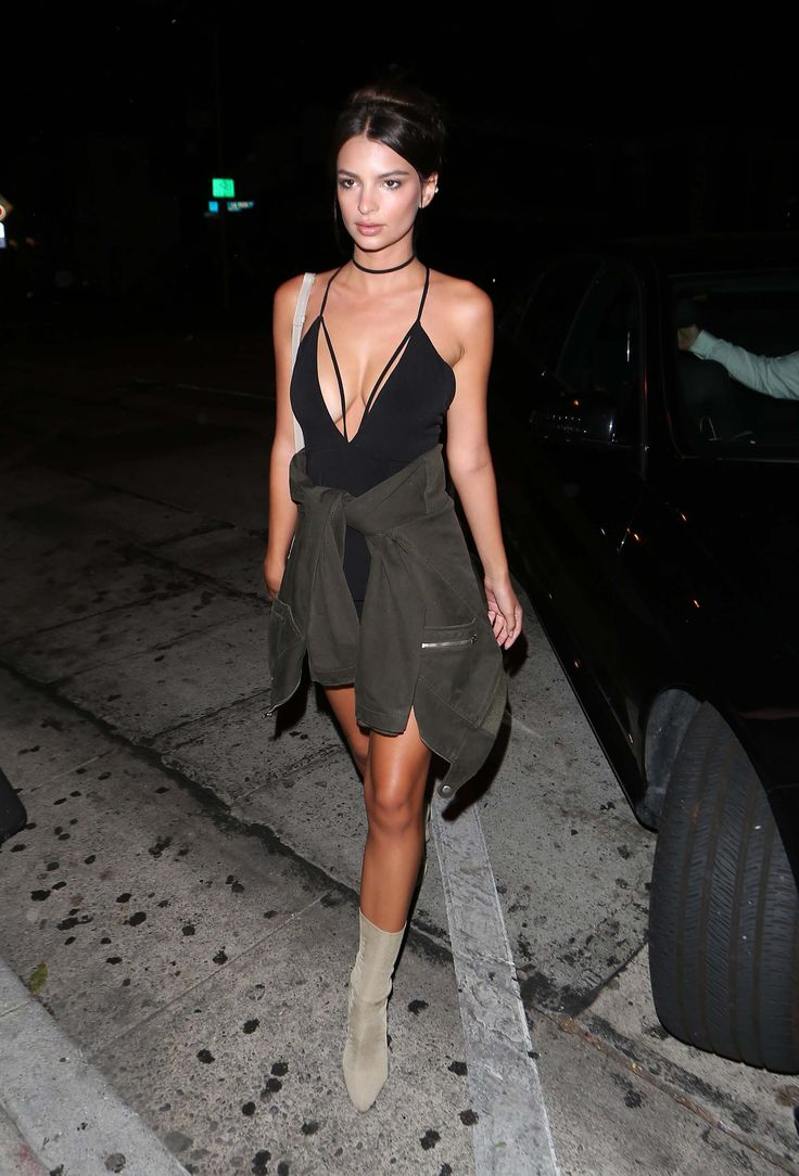 Emily Ratajkowski in the gold knit ankle boot - Yeezy Knit Ankle Boot, $895, yeezysupply.com