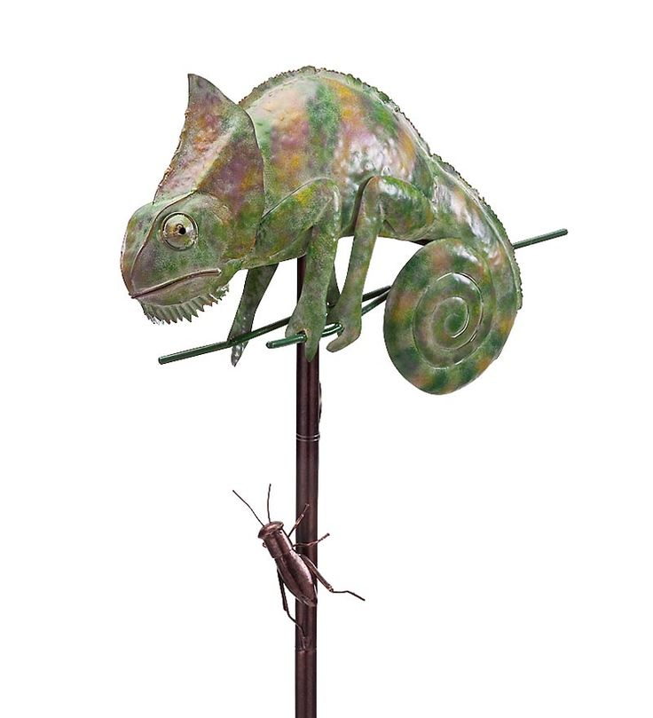 Iron Chameleon And Insect Wind Spinner.... Wind U0026 Weather... Garden  StakesGarden ...