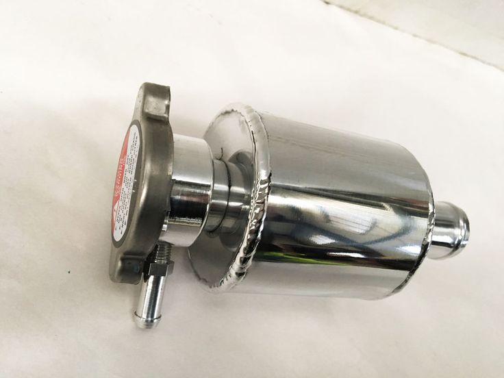 Universal Alloy Radiator Coolant Expansion Tank  + Radiator Cap #Unbranded