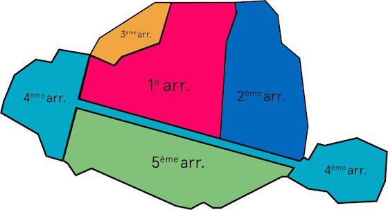 Les nouveaux arrondissements de Paris. Épinglé de http://www.lebonbon.fr/culture/exclu-la-mairie-devoile-les-nouveaux-arrondissements-de-paris/