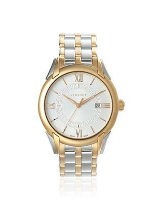 Versace Men's VFI050013 Apollo Silver/Rose Gold IP Watch