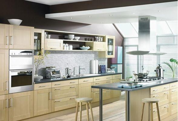Modern Ahşap Mutfak Dolapları