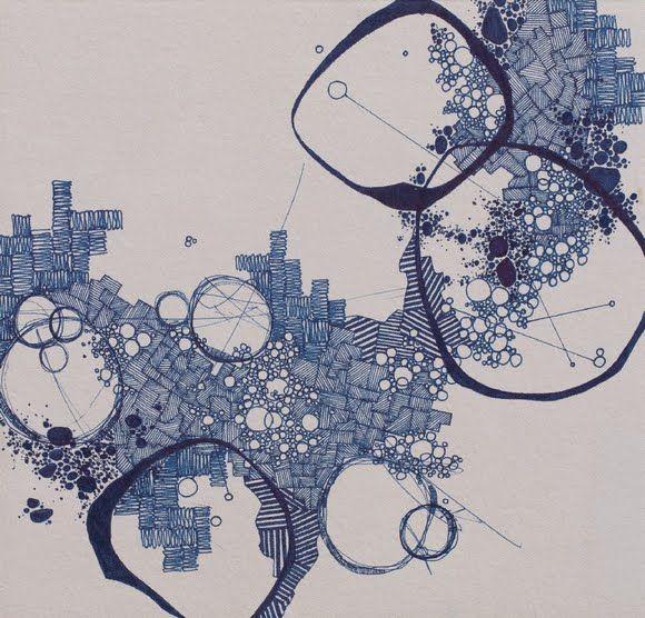"""Asvirus 37"" by Derek Lerner, original pen and ink #drawing #map #topography"