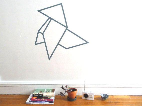 Patron cocotte en origami en masking tape
