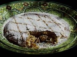 """The French were making a kind of pie or cake called pastillus, a word that was transformed into gastellus, guastellus, wastellus, and gastiel, all names of different stuffed cakes that appear in texts from 1129 to 1200 in the areas of Champagne, Ile-de-France, and Picardie"""