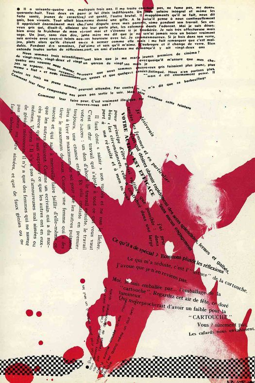 Asger Jorn & Guy Debord | Page from 'Fin de Copenhague' | Published by Bauhaus Imaginiste | 1957 #situationist