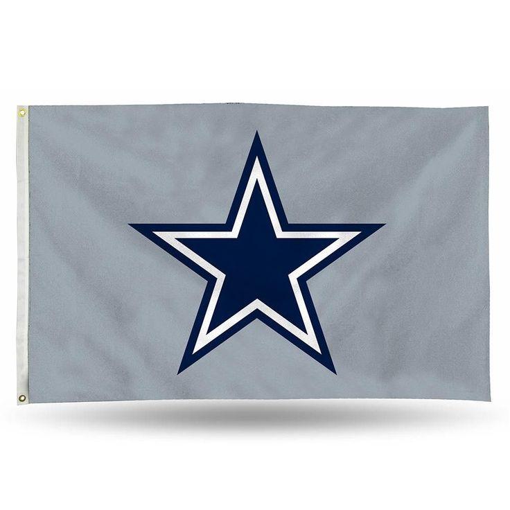 Dallas Cowboys NFL 3ft x 5ft Banner Flag (Silver Background)