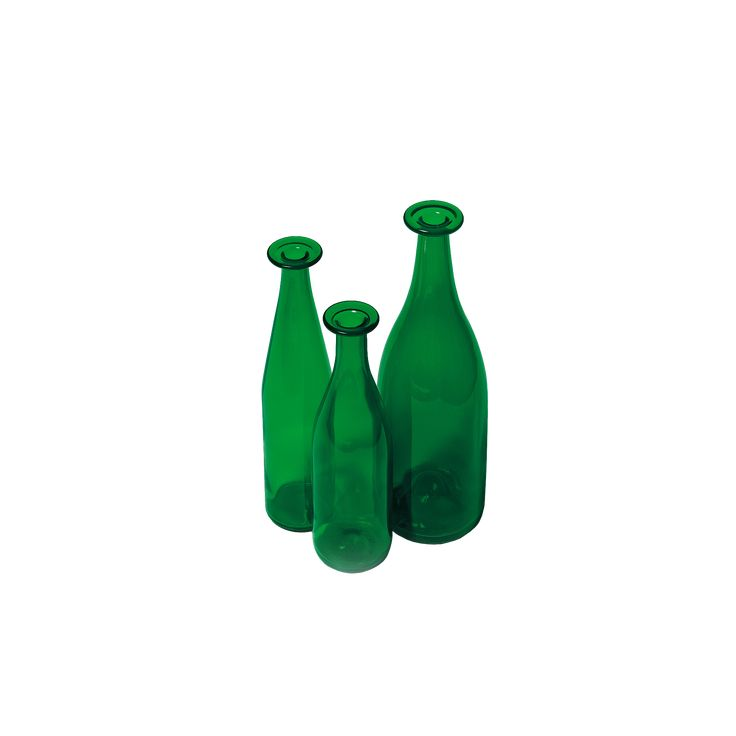 3 GREEN BOTTLES by Jasper Morrison. Discover the collection of design objects on Cappellini website.