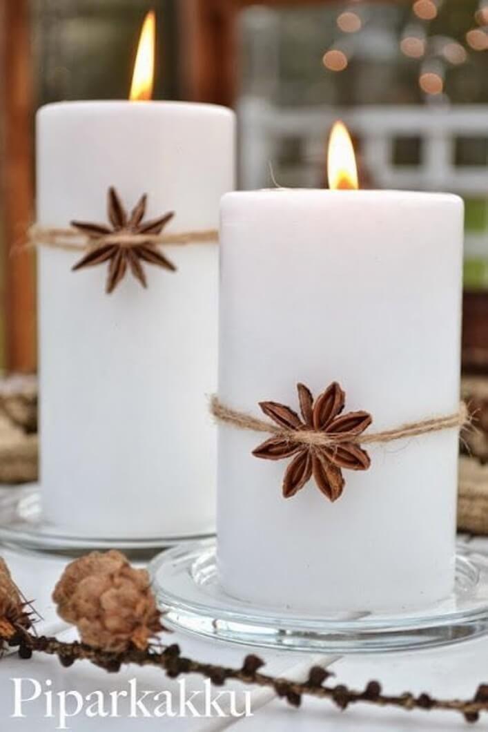32 einfache und lustige Ideen zum Dekorieren einer Kerze #Dekoration #decoratio
