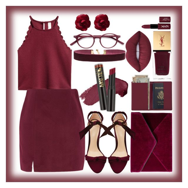 """""""Untitled #52"""" by mileyharbee on Polyvore featuring Alexandre Birman, Rebecca Minkoff, Royce Leather, NYX, Yves Saint Laurent, Lime Crime, L.A. Girl, Vanessa Mooney, EyeBuyDirect.com and Chanel"""