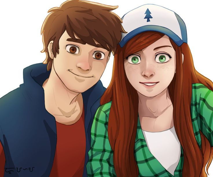 Dipper and Wendy (Selfie) by alanna11