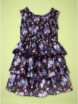 smocked ruffle dress for gals