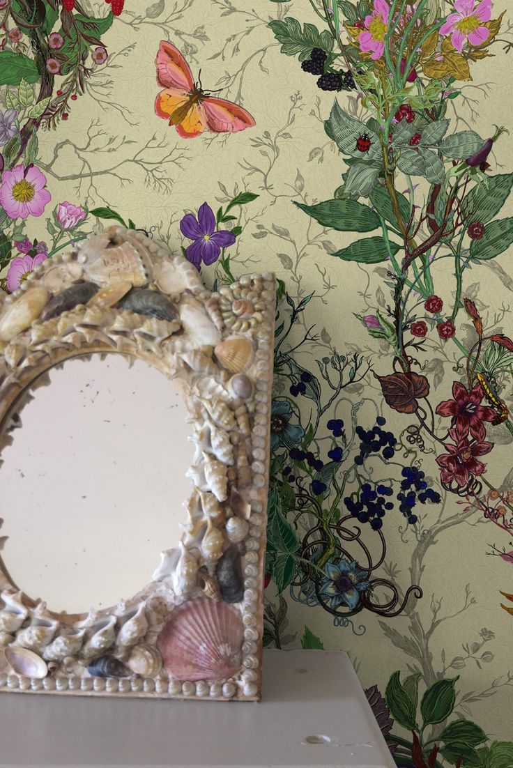 Oh thank goodness, some cheap wallpaper…  Timorous Beasties Wallcoverings  - Bloomsbury Garden wallpaper