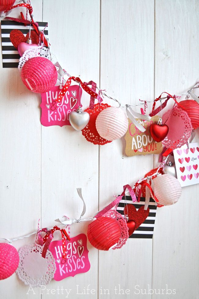 Easy Valentines Love Garland A Pretty Life Valentines Diy