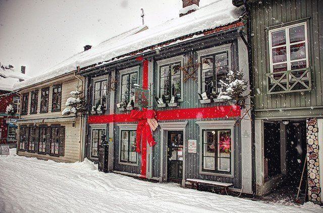 Зимняя улочка в Осло, Норвегия