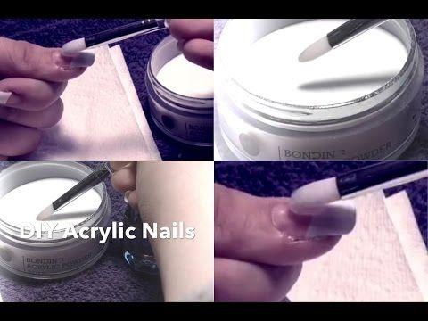 DIY Acrylic Nails ♡ Easy & At Home! - YouTube