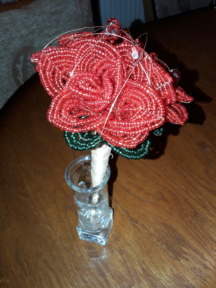 #bead #mini #rosebouquet
