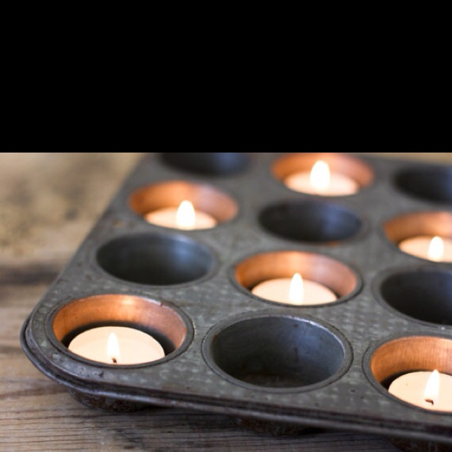 Good idea for lighting if you ever lose electricity and the melted wax would be contained if you had votives or simply use a tea light .