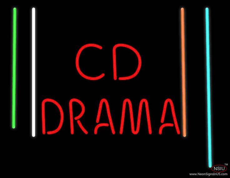 Cd Drama Real Neon Glass Tube Neon Sign,Affordable and durable,Made in USA,if you want to get it ,please click the visit button or go to my website,you can get everything neon from us. based in CA USA, free shipping and 1 year warranty , 24/7 service