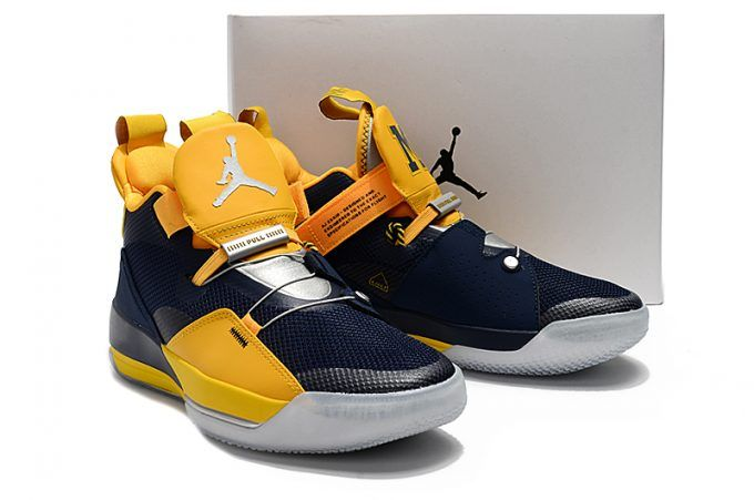 510296c25465 2018 New Colorways Air Jordan 33 Michigan PE Navy Blue Maize in 2019 ...