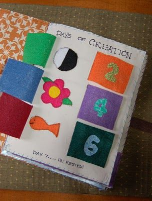 You lift the flaps to see what God made on each day of creation.  Perfect for the worship bag too.