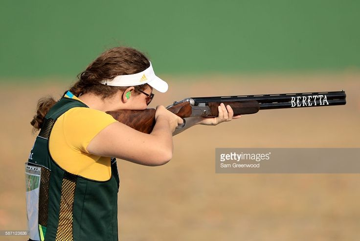 Catherine Skinner of Australia competes in the Womens Trap event during the shooting competition on Day 2 of the Rio 2016 Olympic Games at the Olympic Shooting Centre on August 7, 2016 in Rio de Janeiro, Brazil.