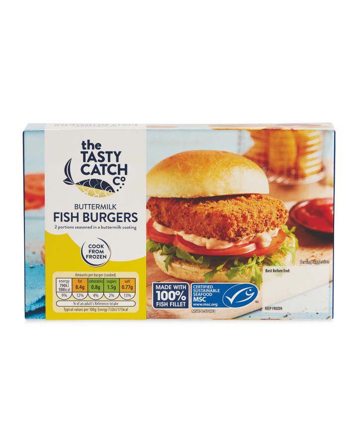 Buttermilk Fish Burgers Aldi Uk In 2020 Fish Burger Frozen Food Food