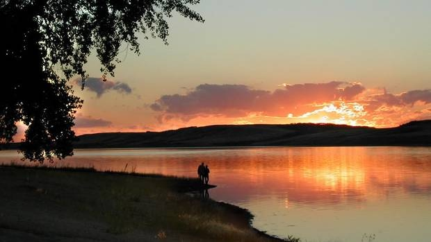 Sunset at Manitou Beach, Saskatchewan, where the Manitou Springs Hotel and Mineral Spa is located. Its pool is fed by Little Manitou Lake. (HANDOUT)