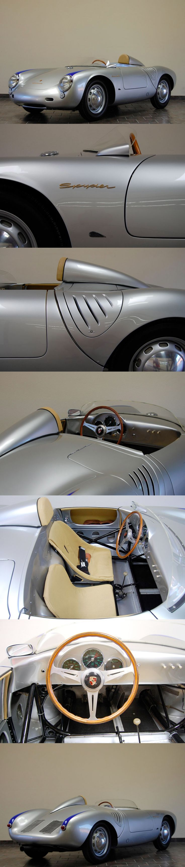 1957 Porsche RS 550A Spyder yes! Sleek like a bullet. Top faves | Whether you're interested in restoring an old classic car or you just need to get your family's reliable transportation looking good after an accident, B & B Collision Corp in Royal Oak, MI is the company for you! Call (248) 543-2929 or visit our website www.bandbcollision.com for more information!