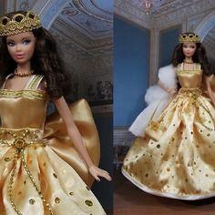 """Robe """" clarisse """" vêtement pour poupée barbie"""