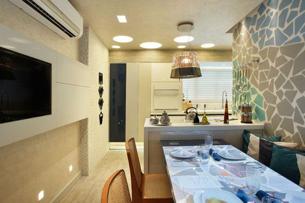 Projeto Cozinha Interativa – Casa Cor RJ 2013 | Portodesign - Porcelanato, Pastilhas, Cubas, Papéis de parede, Metáis e Projetos