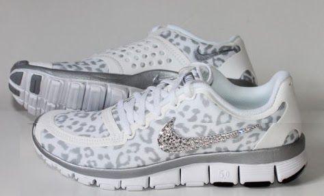 NIKE run free 5.0 v4 shoes w/Swarovski Crystals Cheetah